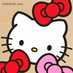 Pégale el moño a Hello Kitty. Imprimible Gratuito.