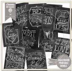 Chalkboard art for Valentine's