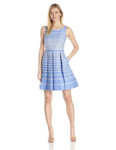 Taylor Dresses Women's Striped Fit-and-Flare Dress -- New and awesome product awaits you, Read it now  : Dresses