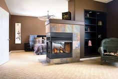Napoleon GVF40-3 30,000 BTU Peninsula 3 Sides Open Vent Free Zero Clearance Gas Fireplace
