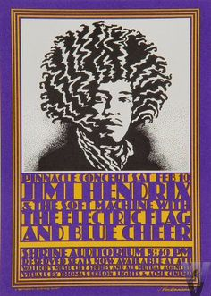 Jimi Hendrix Experience Poster Shrine Auditorium (Los Angeles, CA) Feb 10, 1968