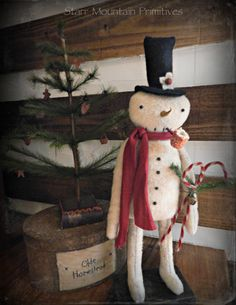 Primitive Standing Frosty the Snowman https://www.facebook.com/pages/Starr-Mountain-Primitives/228548684018?pnref=lhc