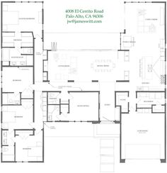 Floor Plan Friday: Dreamy 4 bedroom with soaring ceilings, open plan and big windows