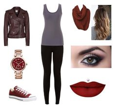 """""""Fall 2"""" by mickyk2107 on Polyvore featuring Converse, Anastasia Beverly Hills, Michael Kors and maurices"""