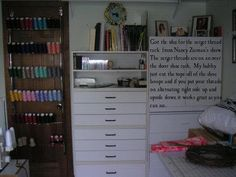 Great idea for your serger thread. I love creative ideas. AWESOME!