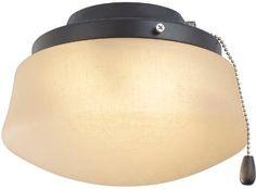 Fanimation LKLP112AAZ Low Profile Light Kit: Flared Linen Glass (E11 Minican Bulbs)