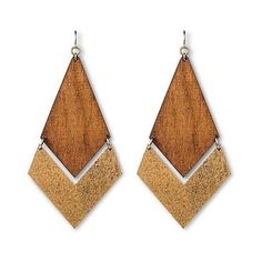 Women's Natasha Accessories Imitation Gold  Wooden Earring ($15) ❤ liked on Polyvore featuring jewelry, earrings, brown, fake earrings, wood jewelry, brown gold jewelry, fake gold jewelry and gold earrings Brown Earrings, Leather Earrings, Leather Jewelry, Gold Jewelry, Wooden Earrings, Wooden Jewelry, Diy Earrings, Gold Earrings, Funky Jewelry