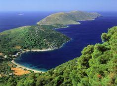 Skyros from a top Santorini Villas, Myconos, Visit Greece, Skiathos, Classical Antiquity, Archipelago, Greece Travel, Island Life, Crete