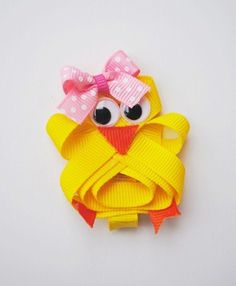 Sweet Baby Chick Easter Sculpture Hair Clip by aidensmommy22, $4.00