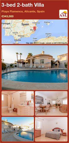 3-bed 2-bath Villa in Playa Flamenca, Alicante, Spain ►€343,000 #PropertyForSaleInSpain