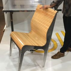 The coolest thing I saw all day was @rockpaperrobot's collapsible #chair. Incredible! @icff_nyc #icff2015 #nycxdesign #t