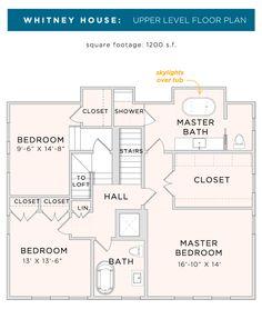 Whitney House Second floor plan.