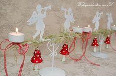 #Adventskranz #Adventsleuchter #Weihnachtsengel #shabbychic http://Wohngeschichten-von-K.dawanda.com