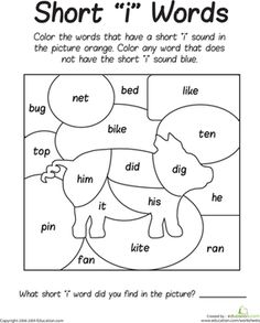 Worksheets Phonics Worksheets For First Grade sounding it out b and v phonics worksheets shorts first grade short i sounds color puzzle