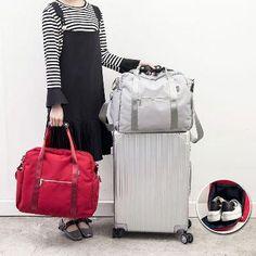 Portable Travel Bag Folding Travel Bag Female Large Capacity Waterproo –  Obangbag 208209e7c5373