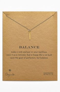 Dogeared 'Reminder - Balance' Boxed Pendant Necklace on shopstyle.com