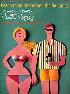 GQ Cover - June 1965 Poster Print by Robert Jackson at the Condé Nast Collection Collages, Collage Art, Vintage Images, Vintage Art, Vintage Posters, Kitsch, Graphic Design Illustration, Illustration Art, Graphic Art