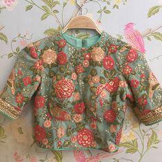 Lengha Blouse Designs, Designer Blouse Patterns, Fancy Blouse Designs, Blouse Neck Designs, Saree Blouse, Skirt Patterns, Coat Patterns, Blouse Styles, Indian Blouse Designs