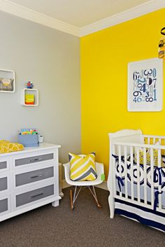 Instantly brighten up a room with a colorful accent wall!