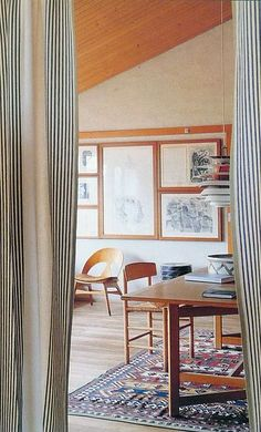 Børge Mogensen's house | Photo by Andrew Wood for Scandinavian Living | to abide: living spaces  | Scandinavian Living, Woods and House