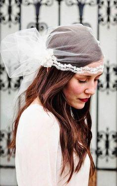 Boho bride's casual down bridal hair Toni Kami Wedding Hairstyles ♥ ❷ Wedding hairstyle ideas  knotted Gatsby 20's veil