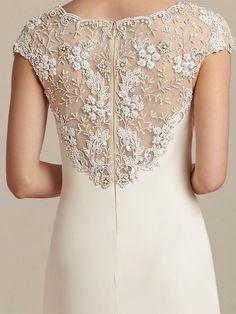 Informal Wedding Dress with Beaded Top Informal Wedding Dresses, Informal Weddings, Elegant Dresses, Vintage Dresses, Casual Dresses, Formal Dresses, Wedding Dress Chiffon, Bridal Dresses, Lace Dress