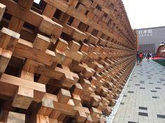 Japan Pavilion @Expo2015Milano  #Nippon #Japanese #JapaneseFood #JapaneseArchitecture
