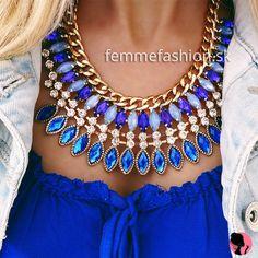 Náhrdelník Shades of Blue http://femmefashion.sk/nahrdelniky/2769-nahrdelnik-shades-of-blue.html
