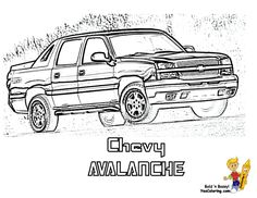 Chevy Avalanche Pickup Truck Coloring Page You Can Print Out This ColoringPage