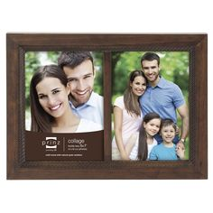 prinz 2 opening monterey wood frame with embossed diamond pattern 5 by 7