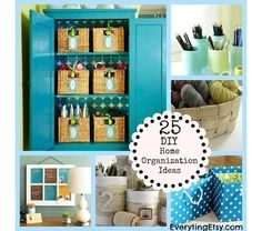 25 diy home organization ideas - Home and Garden Design Ideas