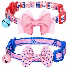 Breakaway Cat Collars, Cat Shedding, Collar Designs, Cute Plush, Pet Collars, Pet Clothes, Girl Power, Sailor, Girly