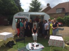 Lunch and afternoon tea in the garden, with the old 'Mavis'. :) xx #vintage #caravan #streetfood