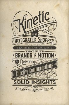 Typography | Kinetic by Tomasz Biernat, via Behance