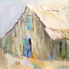 Barn Still Hanging In There by Lenn Hopkins Oil ~ x Watercolor Barns, Watercolor Paintings, Barn Paintings, Acrylic Paintings, Easter Paintings, Mini Paintings, Watercolor Landscape, Watercolors, Building Painting