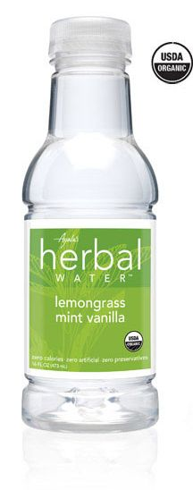 "Lemongrass Mint Vanilla Flavored Water | Ayala's Herbal Water: ""Ayala's Lemongrass Mint Vanilla Herbal Water is a bright medley of crisp flavor notes with a smooth finish. Awaken your senses with organic lemongrass extract, refreshing spearmint, and the suppleness of real vanilla."" My favorite flavor of Herbal Water, Lemongrass Mint Vanilla fuses three delicious flavors into a refreshing beverage."