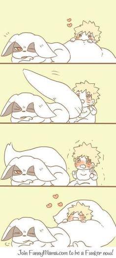 Naruto and Kyuubi