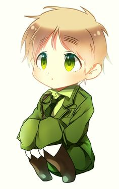 Chibi England! So cute! <3 @Arthur Chang Chang Chang Kirkland