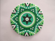Coaster hama mini beads by Cristina Arribas
