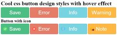 Cool css button design styles with hover effect
