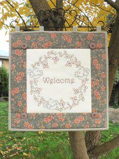 Welcome stitchery pattern