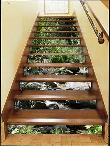 3D Waterfalls 366 Stair Risers Decoration Photo Mural Vinyl Decal Wallpaper AU