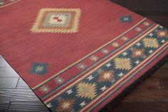 JT-1033, #surya. jewel tone. 100% wool. handwoven. flat pile. reversible. india.
