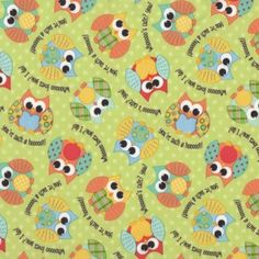Owls Waterproof PUL Fabric For Making Nappies Wetbags etc - Find a Fabric