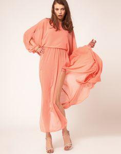 how to wear a colorblock maxi dress | WEAR: Kimono Sleeved Maxi Dress