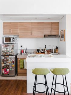 A Look Inside the Charming Home of a Real Living Reader Yellow Kitchen Designs, Kitchen Designs Photos, Kitchen Tiles Design, Kitchen Wall Tiles, Kitchen Images, Condo Interior Design, Condo Design, Kitchen Interior, House Design