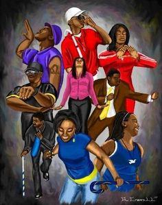 Divine Nine What if ALLLLLLLL members were active in the charge. Kappa Alpha Psi Fraternity, Omega Psi Phi, Alpha Kappa Alpha Sorority, Delta Sigma Theta, Alpha Man, Black Love Art, Black Girl Art, Black Is Beautiful, Aka Sorority