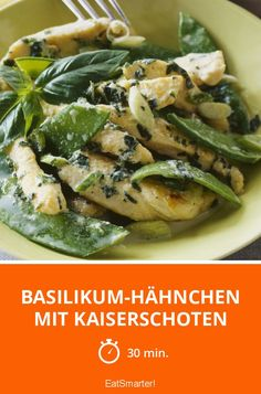 Basilikum-Hähnchen mit Kaiserschoten