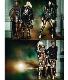 Roberto Cavalli F/W 2031/2014: Liya <em>campaign</em> Kebede, Iselin Steiro, Liu Wen by Mario Testino