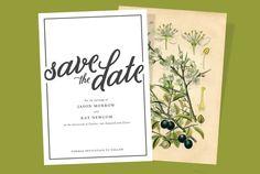 Botanical Save the Date Printable Digital File by MaxandMila